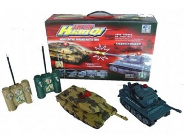 Radio controlled TANKS twin pack RC models military replica infra-red battle set toy